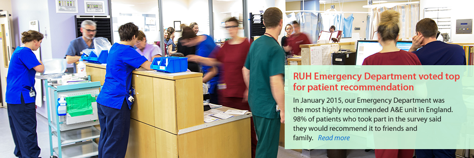RUH Emergency Department voted top for patient recommendation