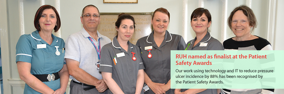 RUH named as finalist at the Patient Safety Awards