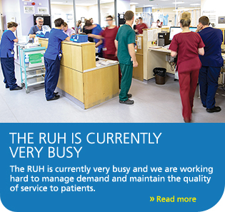 The RUH is currently very busy